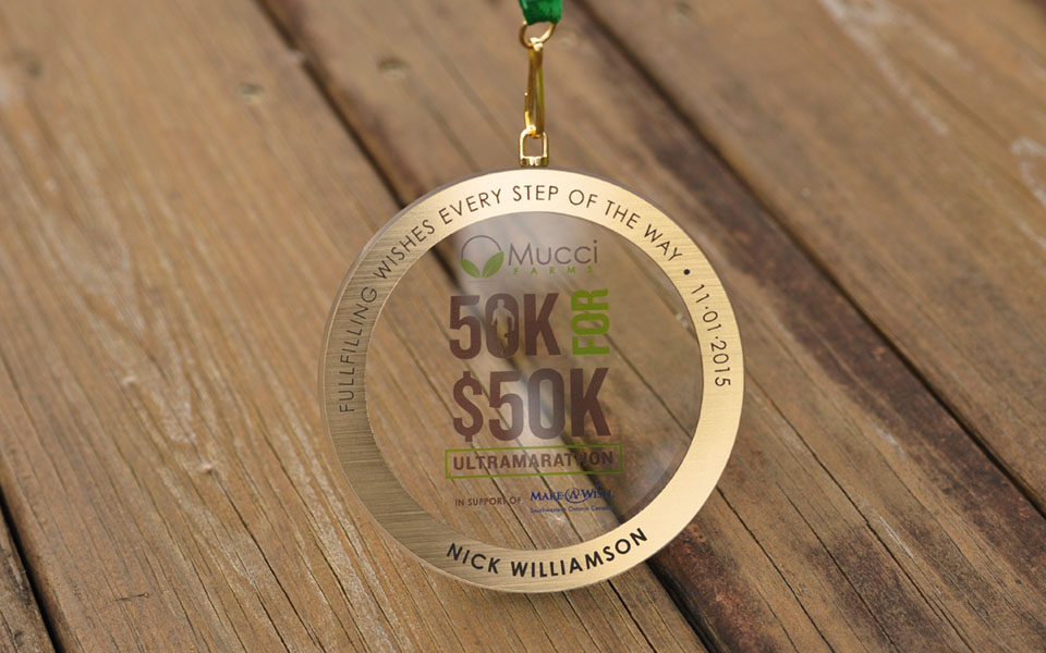 Glass & Metal Elegant Medals
