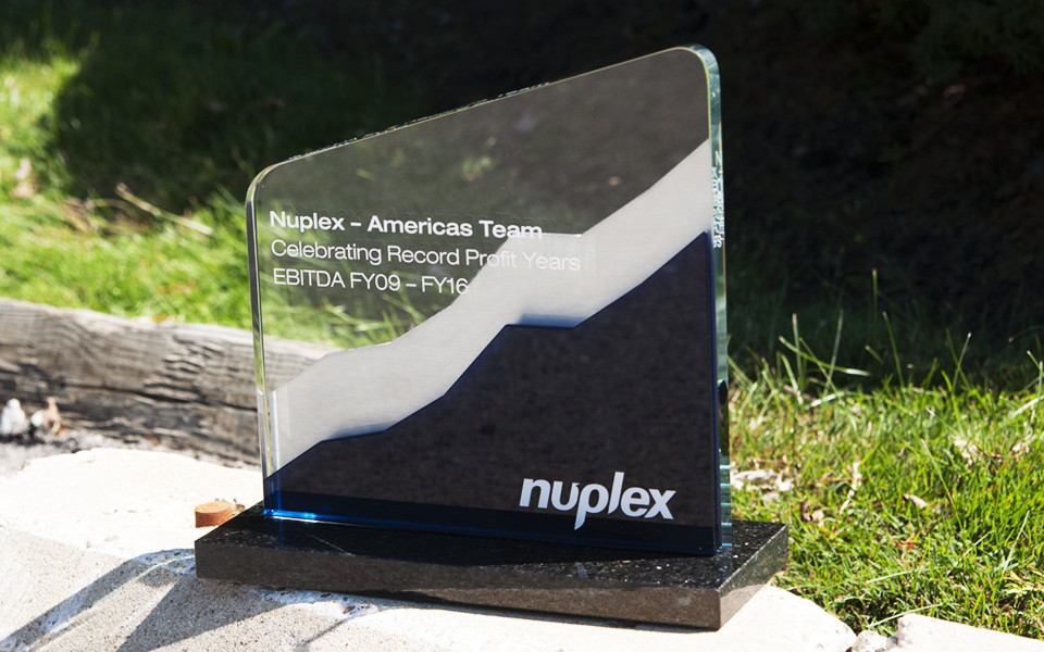 Granite Base Glass/Metal Custom Award