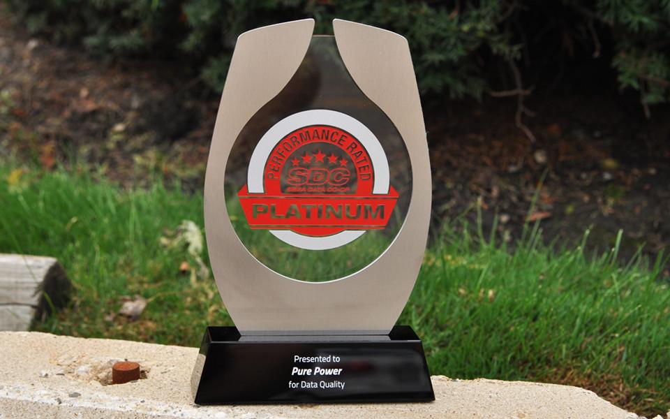 Glass & Metal Custom Award