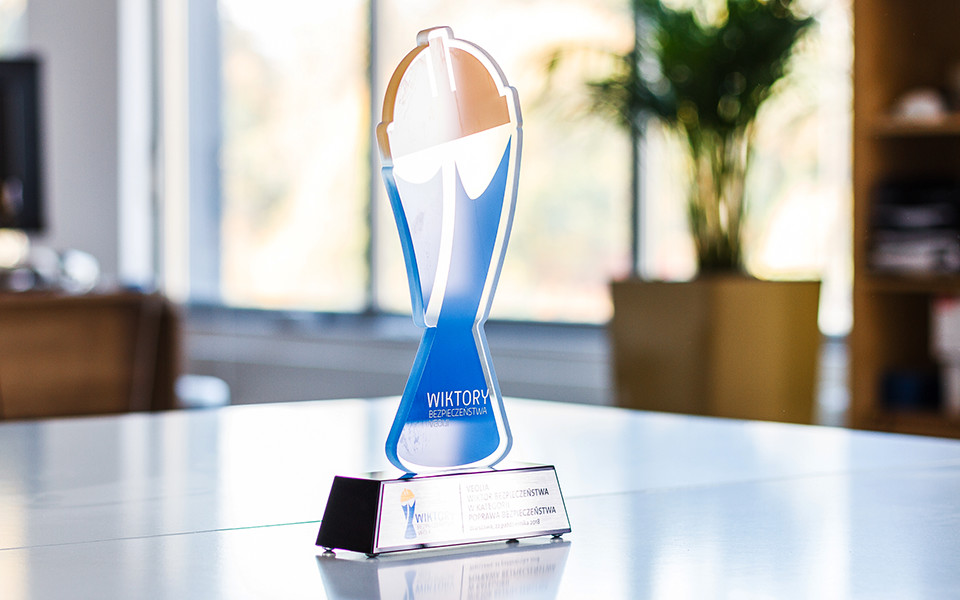 Custom Glass Logo Award