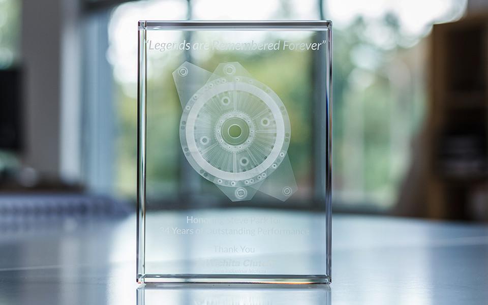 3D Crystal Laser Cube