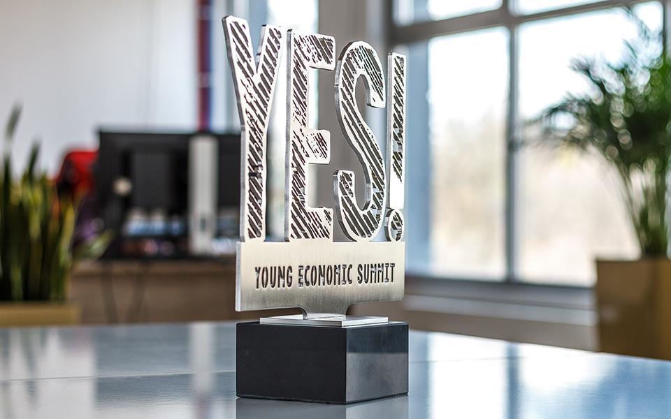 Custom Shape Metal Award